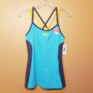 Fila | Criss Cross One Piece Tank w/ Media Pocket